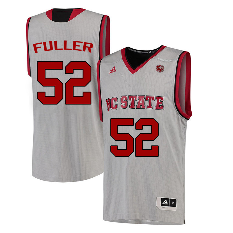 Men NC State Wolfpack #52 Todd Fuller College Basketball Jerseys-White