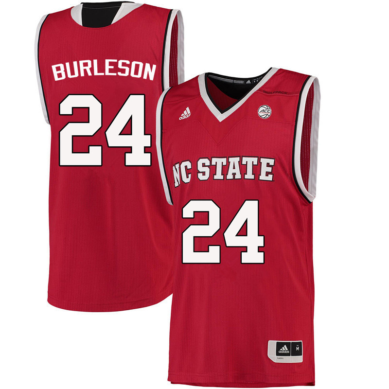 Men NC State Wolfpack #24 Tommy Burleson College Basketball Jerseys-Red