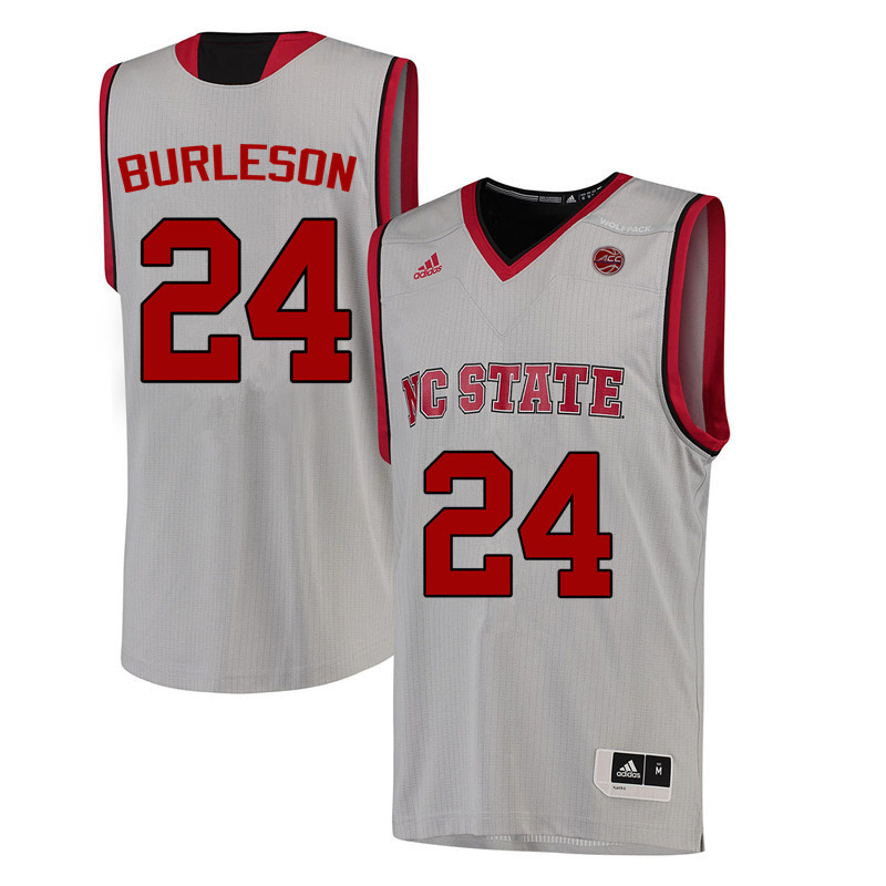 Men NC State Wolfpack #24 Tommy Burleson College Basketball Jerseys-White