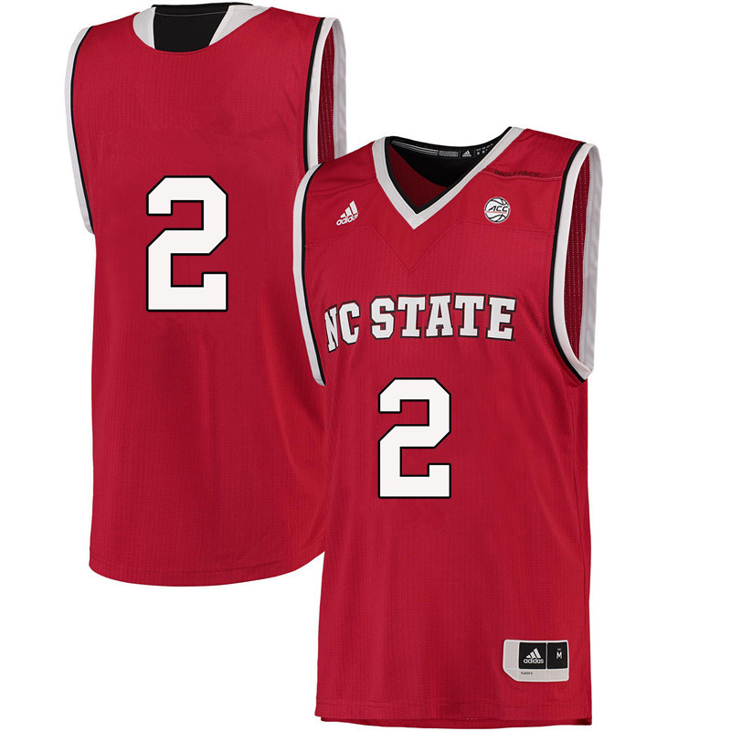 Men #2 Torin Dorn NC State Wolfpack College Basketball Jerseys-Red