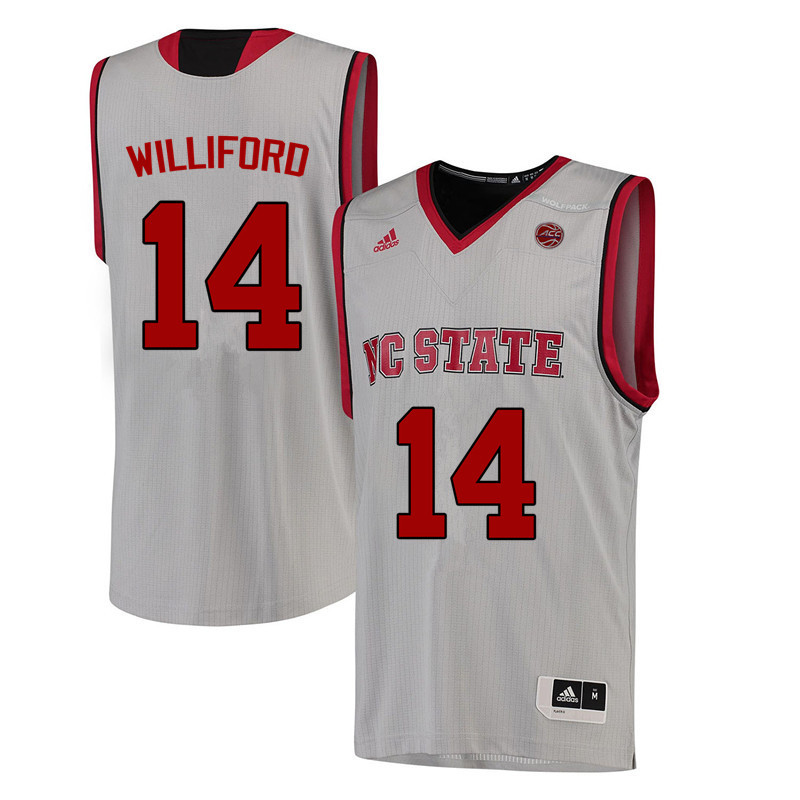 Men NC State Wolfpack #14 Vann Williford College Basketball Jerseys-White