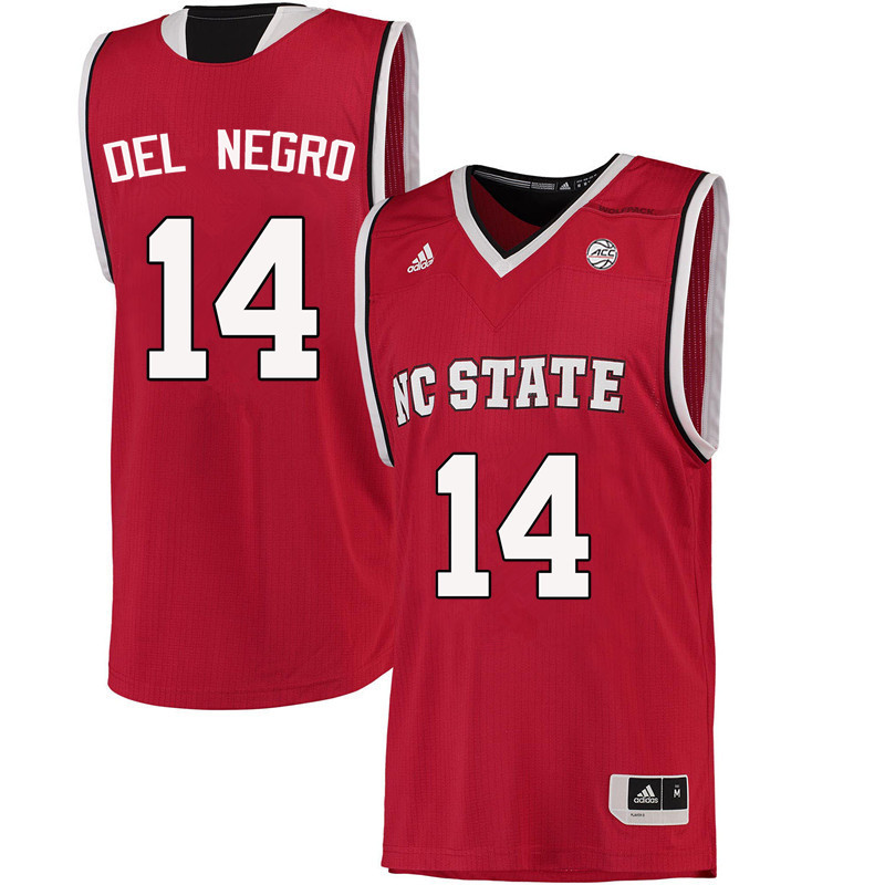 Men NC State Wolfpack #14 Vinny Del Negro College Basketball Jerseys-Red