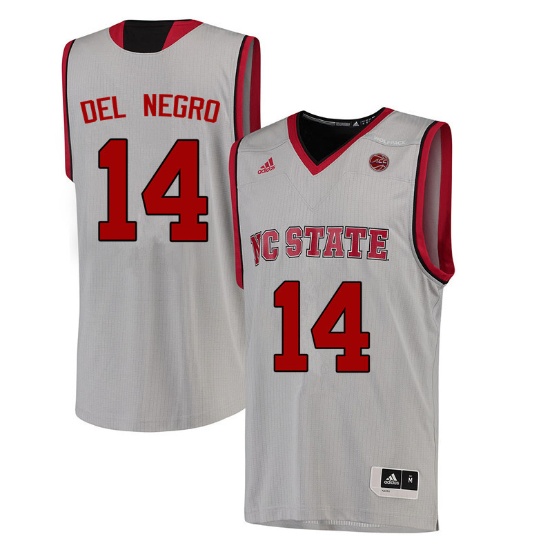 Men NC State Wolfpack #14 Vinny Del Negro College Basketball Jerseys-White