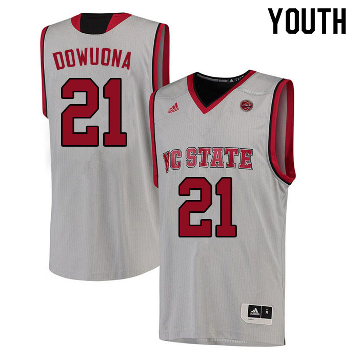 Youth #21 Ebenezer Dowuona NC State Wolfpack College Basketball Jerseys Sale-White